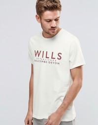 Белая футболка с принтом Wills Jack Wills - Белый