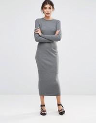 Платье миди Cheap Monday Repeal - Темно-серый меланж
