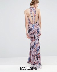 Свадебное платье макси с высокой горловиной и отделкой спинки Jarlo