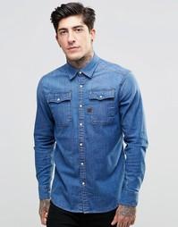 Джинсовая рубашка G-Star Landoh - Синий
