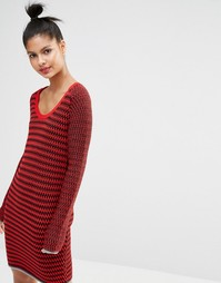 Вязаное платье‑джемпер Sonia By Sonia Rykiel - Красный