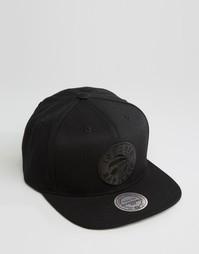 Бейсболка с принтом Toronto Raptors Mitchell & Ness - Черный