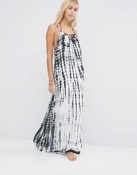 Платье макси с принтом тай-дай Surf Gypsy