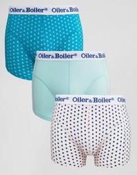 3 пары боксеров-брифов в горошек Oiler & Boiler - Мульти
