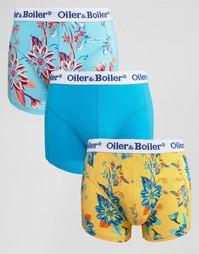 3 пары боксеров-брифов Oiler & Boiler - Мульти