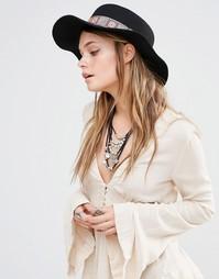 Шляпа с принтом на ленте Glamorous Matador - Черный