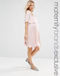 Двухслойное приталенное платье для беременных Bluebelle Maternity Nurs