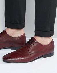 Кожаные бордовые туфли на шнуровке ASOS - Красный