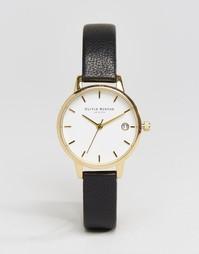 Часы с черным кожаным ремешком Olivia Burton Dandy OB15TD14 - Черный