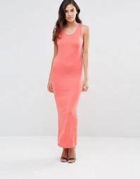 Трикотажное платье макси Pussycat London - Розовый