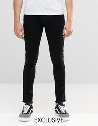 Черные супероблегающие джинсы с необработанным краем Brooklyn Supply C