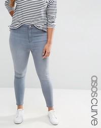 Серые джинсы скинни ASOS CURVE Ridley - Серый