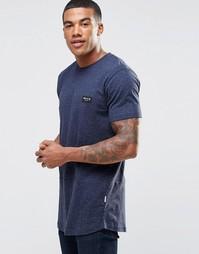 Крапчатая футболка с закругленным низом Nicce London - Темно-синий