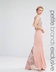 Платье-халтер макси с кружевным верхом Jarlo Petite - Телесный