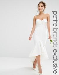 Платье миди бандо Jarlo Petite - Белый
