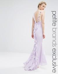Платье макси с оборками на спине Jarlo Petite - Mauve