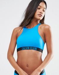 Укороченный бикини-топ Calvin Klein Intense Power - Синий Baie Вlue
