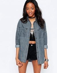 Удлиненная джинсовая рубашка Glamorous - Черный