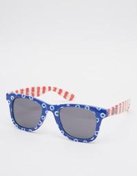 Солнцезащитные очки с контрастным принтом Vans Janelle Hipster
