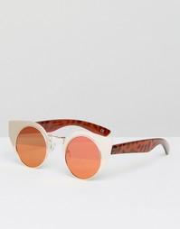Солнцезащитные очки в металлической оправе с плоскими стеклами ASOS