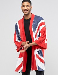 Трикотажное кимоно с британским флагом Religion - Red white blue