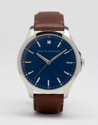 Часы с коричневым кожаным ремешком Armani Exchange AX2181 - Коричневый