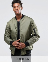 Двусторонняя куртка‑пилот Reclaimed Vintage MA1 - Зеленый