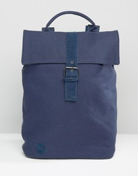 Темно-синий парусиновый рюкзак Mi‑Pac - Темно-синий