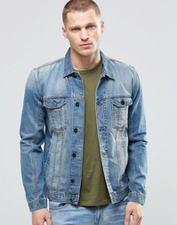 Выбеленная джинсовая куртка Religion Nolita - Синий