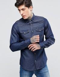 Темно-синяя джинсовая рубашка в стиле вестерн Diesel New-Sonora-E