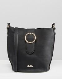 Эксклюзивная большая сумка дафл с кольцом Faith - Черный