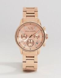 Часы цвета розового золота Armani Exchange Lady Banks AX4326