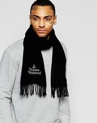 Шарф с логотипом Vivienne Westwood - Черный