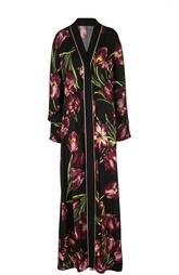 Шелковое платье-туника с цветочным принтом Dolce & Gabbana