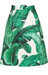 Мини-юбка А-силуэта с цветочным принтом Dolce & Gabbana
