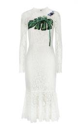 Кружевное облегающее платье с вышивкой Dolce & Gabbana