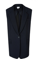 Удлиненный жилет прямого кроя в полоску DKNY