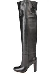 Высокие кожаные ботфорты Gianvito Rossi
