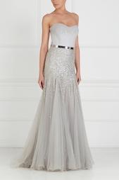 Платье-бюстье с вышивкой Tony Ward