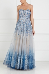Шелковое платье с вышивкой Tony Ward