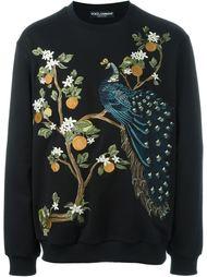 толстовка с вышивкой павлина Dolce & Gabbana