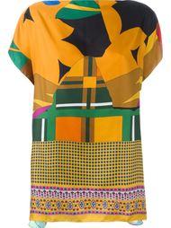 блузка с комбинированным принтом Pierre-Louis Mascia