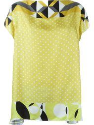 блузка с геометрическим принтом Pierre-Louis Mascia