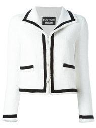 пиджак с контрастной окантовкой Boutique Moschino