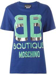 футболка с принтом-логотипом Boutique Moschino