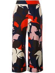 брюки с цветочным принтом Delpozo