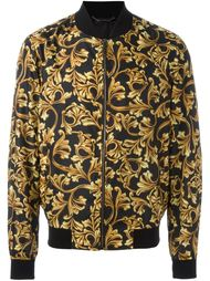 куртка-бомбер с принтом барокко  Versace