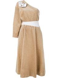 вельветовое платье на одно плечо  Awake
