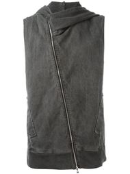 sleeveless zipped hoodie Lost & Found Rooms