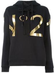 logo print hoodie Nº21